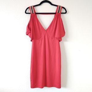 2b bebe Red V-neck Dress Size Small